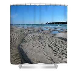 Gloucester Lighthouse Shower Curtain by Barbara Bardzik
