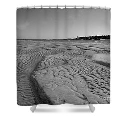 Gloucester Lighthouse Monocrhome Shower Curtain by Barbara Bardzik