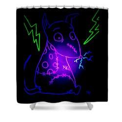 Glow Frankenweenie Sparky Shower Curtain by Marisela Mungia
