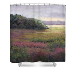 Glow On Gilsland Farm Shower Curtain by Vikki Bouffard