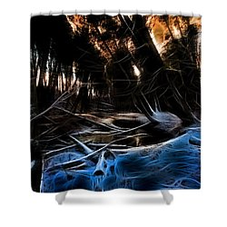 Glow River Shower Curtain