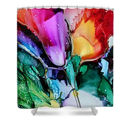 Glow Shower Curtain by Ruth Kamenev