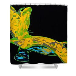 Glow Stick Shower Curtain