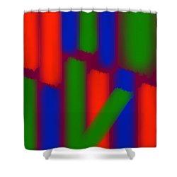 Glow Sticks Shower Curtain
