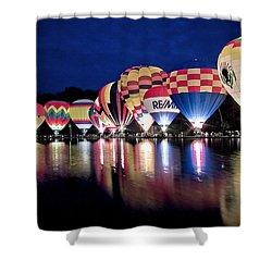 Glowing Balloons Shower Curtain