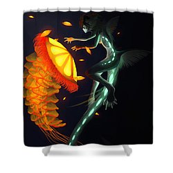 Glowing Depths Shower Curtain by Nicki Lagaly