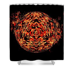 Glowing Embers Mandala Shower Curtain