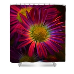 Glowing Eye Of Flower Shower Curtain by Lilia D