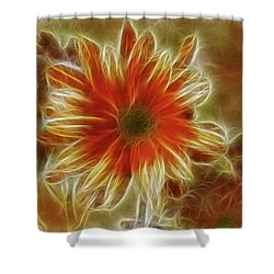 Glowing Flower Shower Curtain
