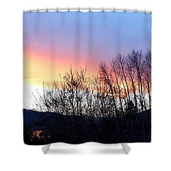 Shower Curtain featuring the photograph Glowing Kalamalka Lake by Will Borden