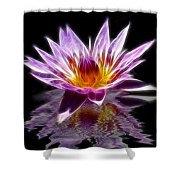 Glowing Lilly Flower Shower Curtain by Shane Bechler