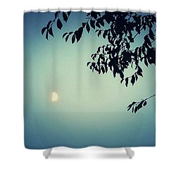 Glowing Moon  Shower Curtain