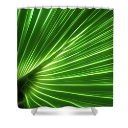 Glowing Palm Shower Curtain