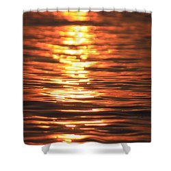 Glowing Ripples Shower Curtain by Karol Livote