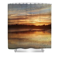 Long Beach I, British Columbia Shower Curtain by Heather Vopni