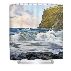 Glowing Sky At Pencannow Point Shower Curtain