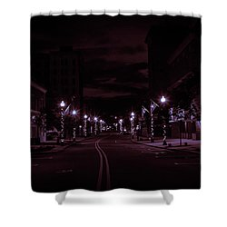 Glowing Streets Downtown Shower Curtain