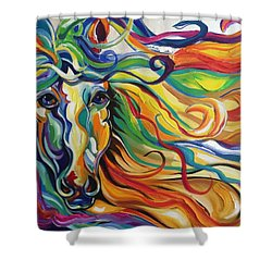 Glyde  Shower Curtain by Heather Roddy
