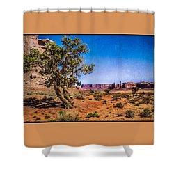 Gnarled Utah Juniper At Monument Vally Shower Curtain