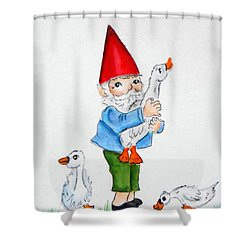 Gnome And Friends Shower Curtain