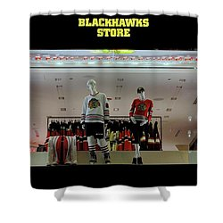 Shower Curtain featuring the photograph Go Blackhawks by Frozen in Time Fine Art Photography