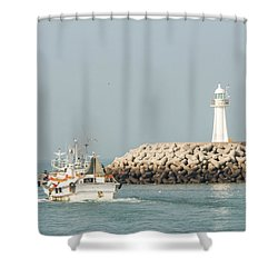 Go Fishing Shower Curtain