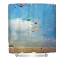 Shower Curtain featuring the photograph Go Fly A Kite by David Zanzinger