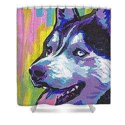 Go Husky Shower Curtain by Lea S