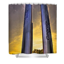 Go Tech Georgia Tech Sunset Art Shower Curtain by Reid Callaway