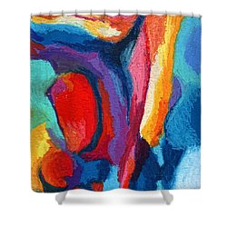 Go With The Flow Shower Curtain by Stephen Anderson
