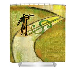 Shower Curtain featuring the painting Goal by Leon Zernitsky