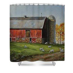 Goat Farm Shower Curtain