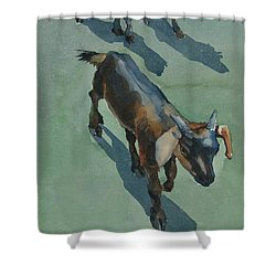 Goat Shower Curtain by Helal Uddin