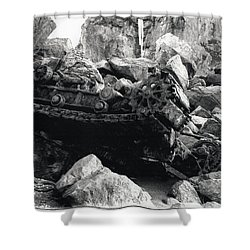 Goat Rock Tractor Jenner California Shower Curtain