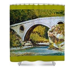 Goat's Bridge Shower Curtain