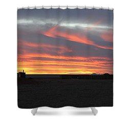 Gobi Sunset Shower Curtain by Diane Height