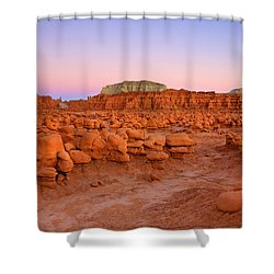 Goblin Glow Shower Curtain by Mike  Dawson