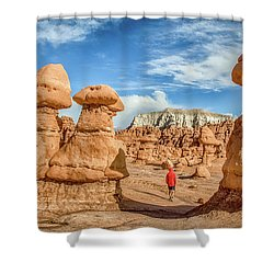 Goblin Valley State Park Shower Curtain by JR Photography
