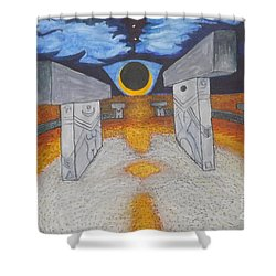 Goblitechi Vision Eclipse Shower Curtain