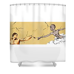God And Man Shower Curtain