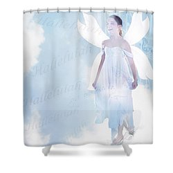 God Be Praised Shower Curtain
