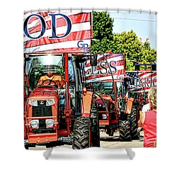 God Bless America And Farmers Shower Curtain by Toni Hopper
