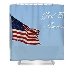 God Bless America Shower Curtain