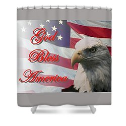 God Bless America Shower Curtain