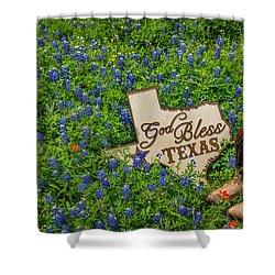 God Bless Texas II Shower Curtain