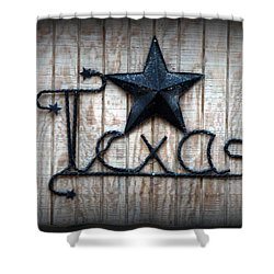 Shower Curtain featuring the photograph God Bless Texas by Kathy  White