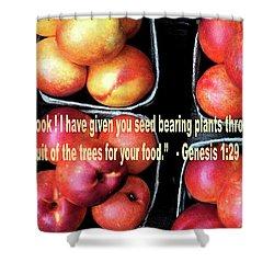 God Gives Fruit For Food Shower Curtain