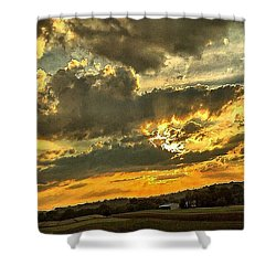 God Hand Shower Curtain by MaryLee Parker