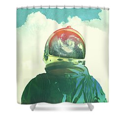 God Is An Astronaut Shower Curtain