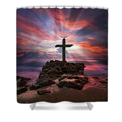 God Is My Rock Special Edition Fine Art Shower Curtain
